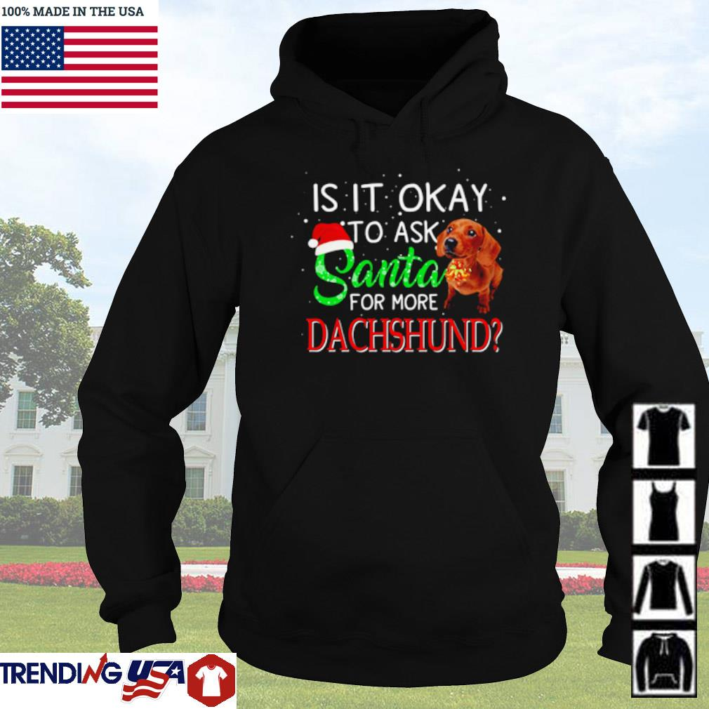 Is it okay to ask Santa for more Dachshund Christmas sweater Hoodie