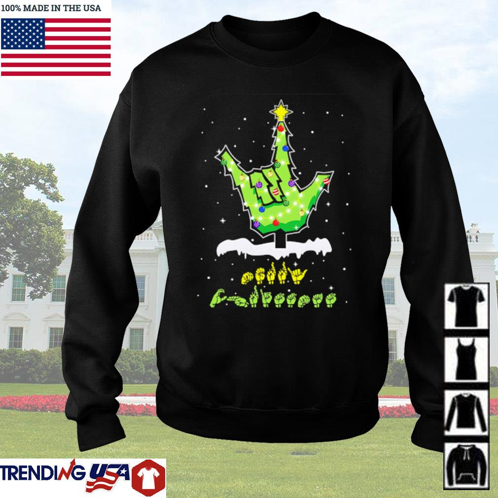 Sign languages Christmas tree sweater