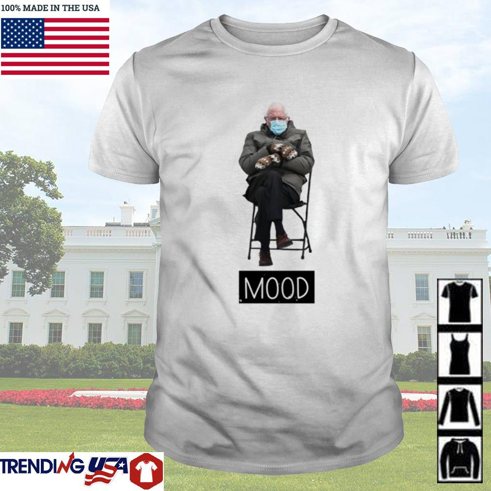 Bernie Sanders face mask mood shirt