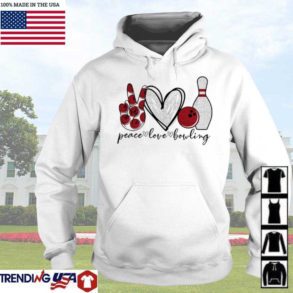 Peace love bowling s Hoodie