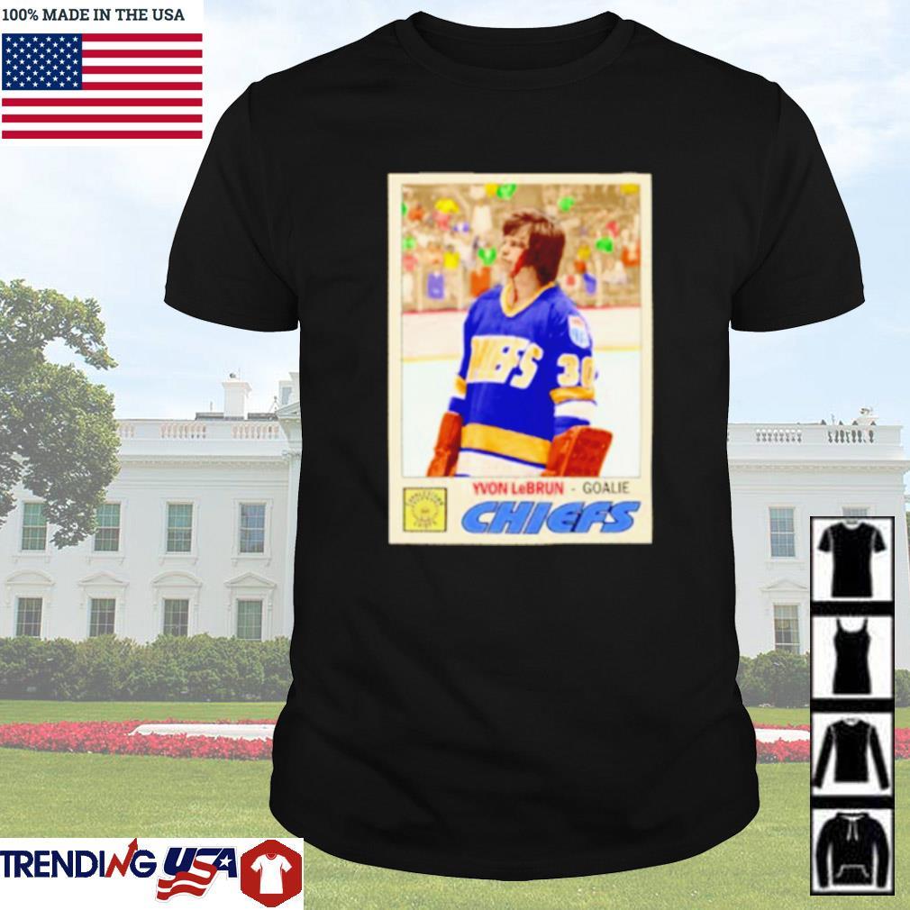 Yvon LeBrun goalie Chiefs shirt