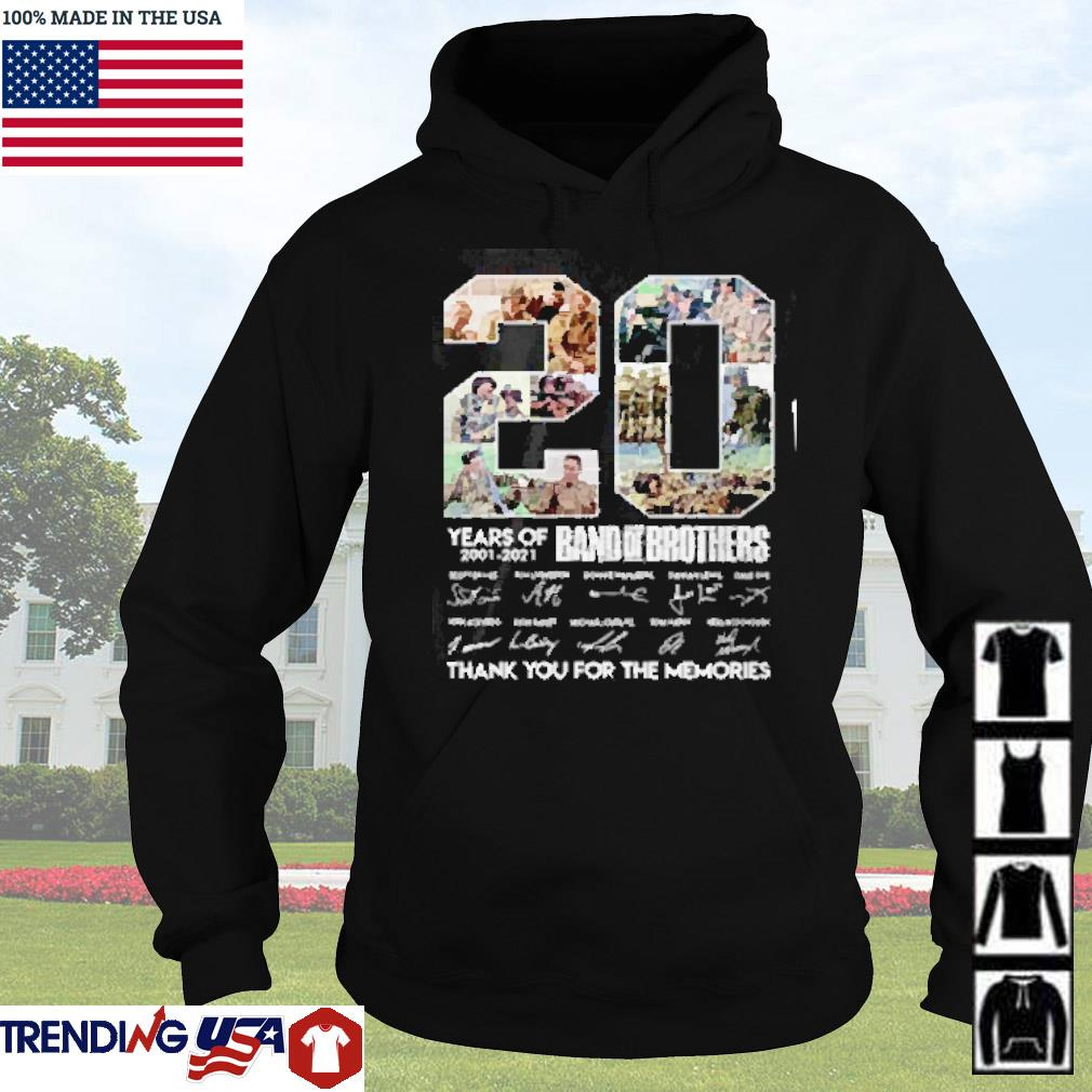 20 Years of Band of Brothers 2001-2021 thank you for the memories s Hoodie