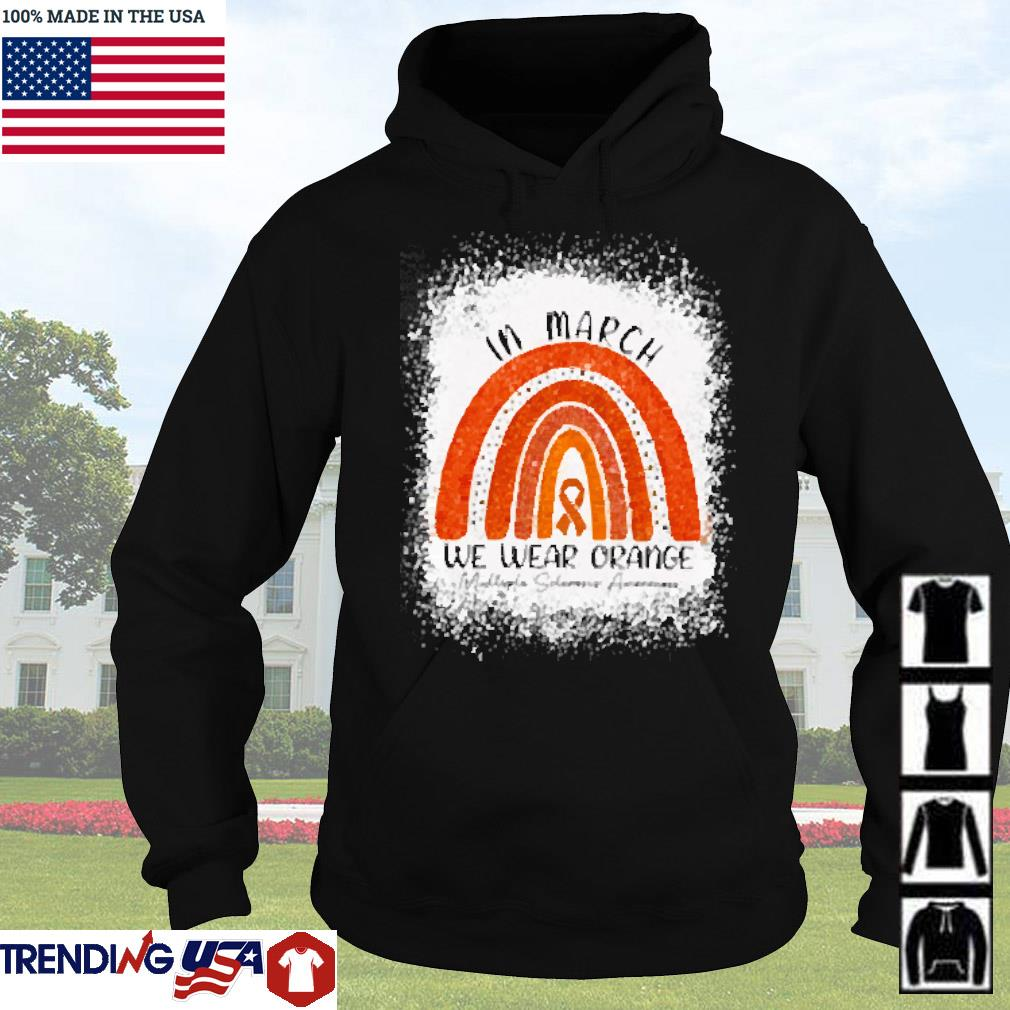 In march we wear orange awareness s Hoodie